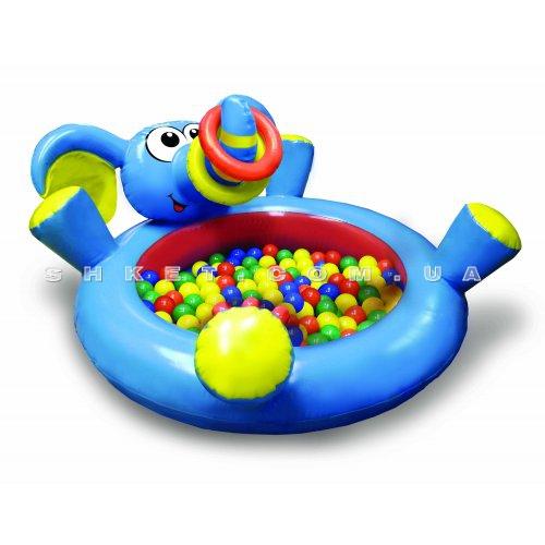 Большой бассейн для активных игр Play WOW Слоненок с кольцами