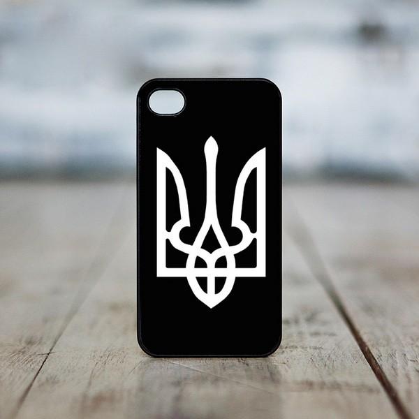 Чехол на iphone «Тризуб (белый на черном)»