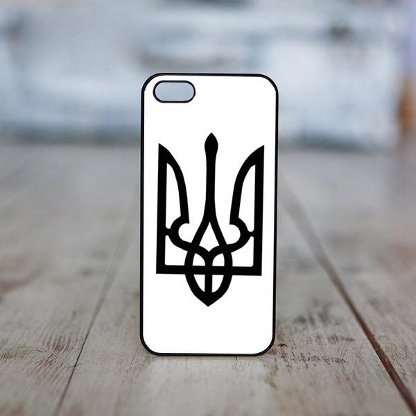 Чехол на iphone «Тризуб (черный на белом)»