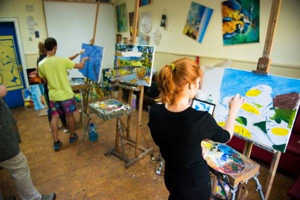 Интересный урок живописи