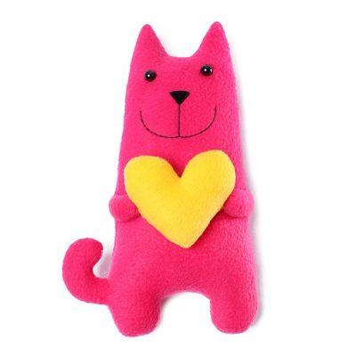 Кошка амурчик розовая (большой)