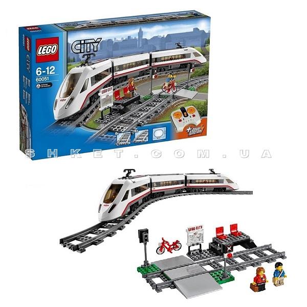 Скоростной пассажирский поезд Lego City