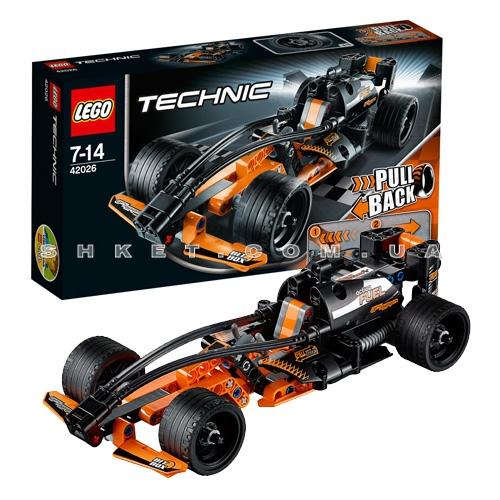 Чёрный гоночный автомобиль Lego Technic