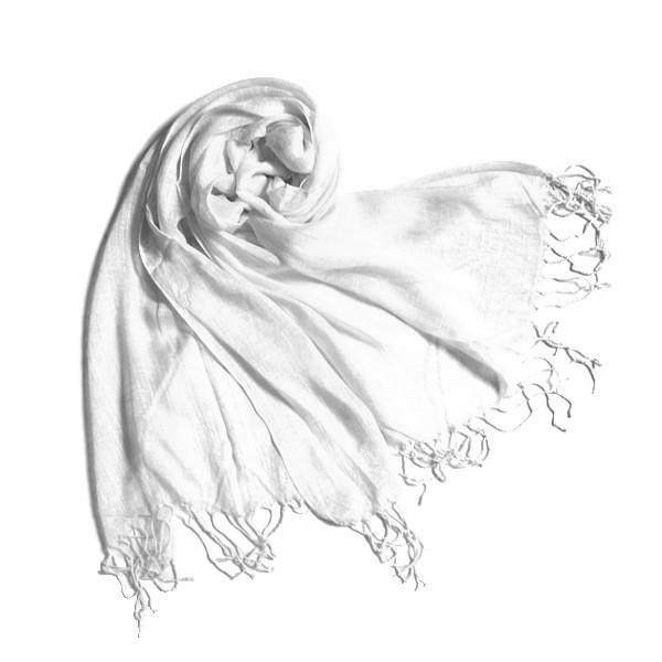 Шарф «Белый» лен
