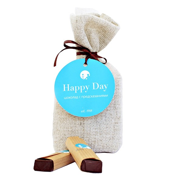 Шоколад с предсказаниями Happy Day