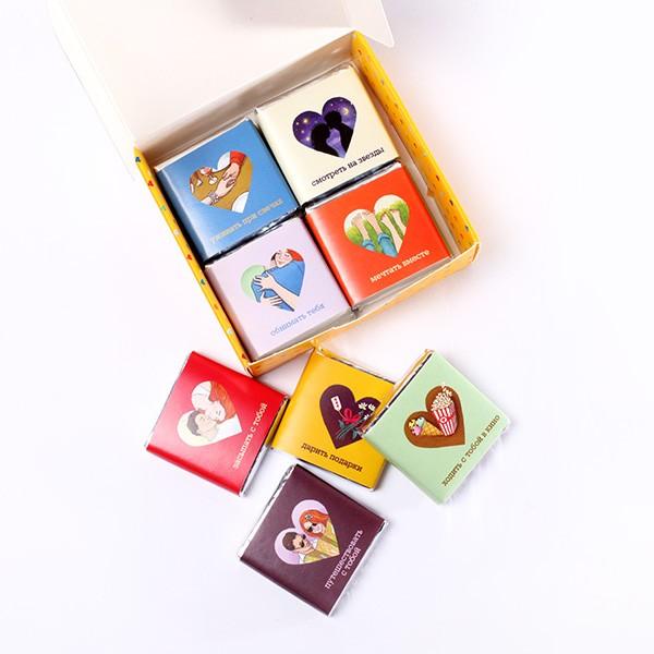Шоколадный набор «Люблю когда мы вместе»