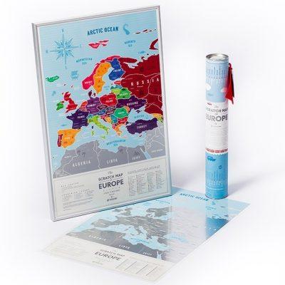 Скретч карта Европы Silver (на английском языке)