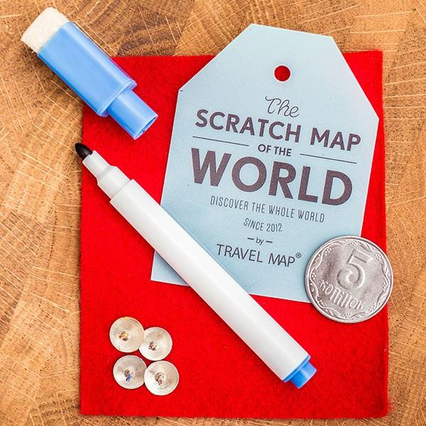 Скретч карта мира Travel Map Silver (на английском языке)