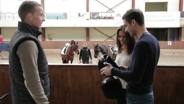Урок езды на лошадках