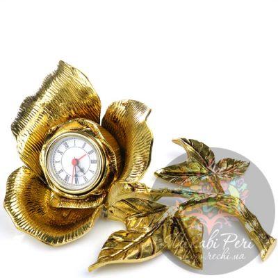 Часы настольные Virtus в виде бронзового цветка