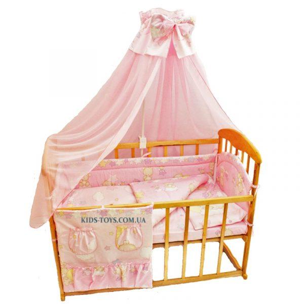 Детский постельный набор «Мишка на луне»