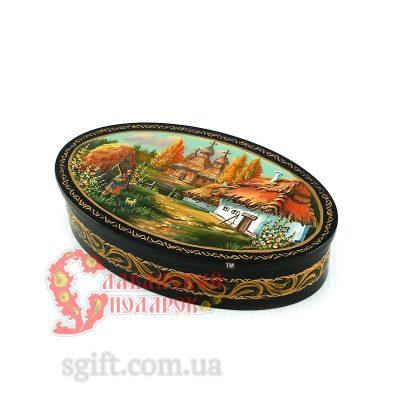 Шкатулка деревянная с миниатюрной живописью