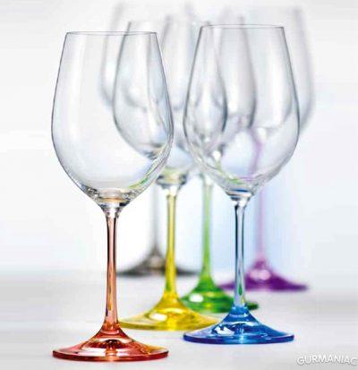 Набор фужеров для вина Bohemia «Rainbow»