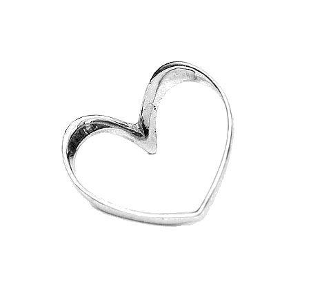 Кольцо из серебра в форме сердца