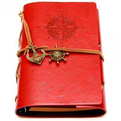 Винтажных блокнот «Морской» красный