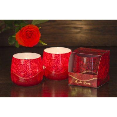 Ароматизированная свеча в стакане «Роза»