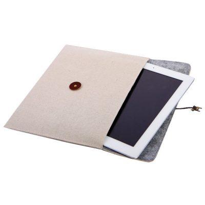 Чехол для iPad «Eco» из текстиля Натуральный