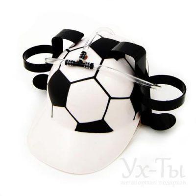 Каска «Футбол» с крепежами для пива