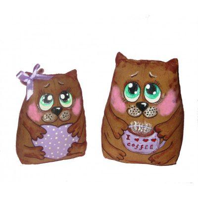 Набор кофейных игрушек «Влюбленные Котейки»