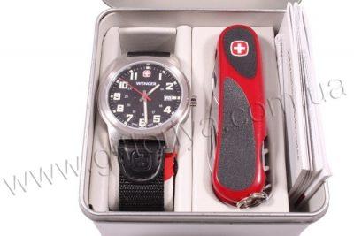 Набор наручные часы Wenger «Field Classic» и нож Wenger «EvoGrip»