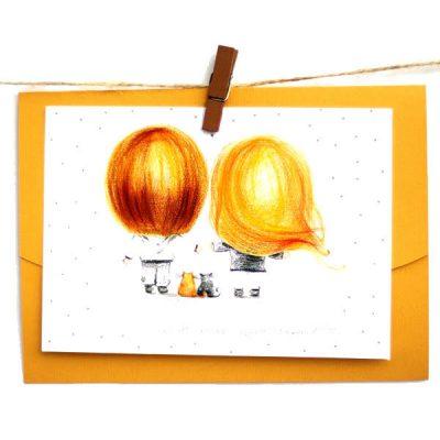 Открытка-конверт Poshtivka «Ти-це завтра, сьогодні і коже день»
