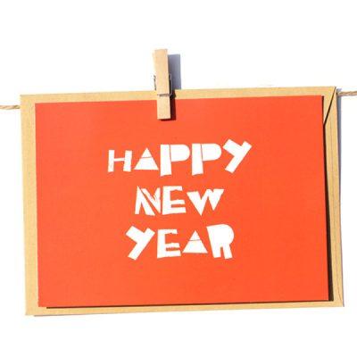 Открытка Poshtivka «Happy New Year» + конверт