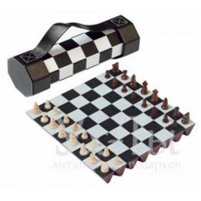 Раскладной набор для игры в шахматы в удобном магнитном цилиндре