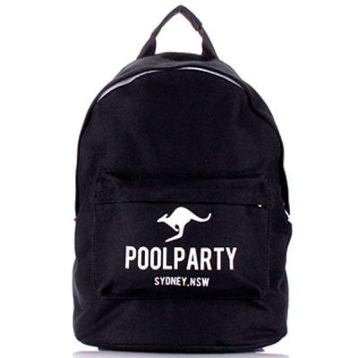 Рюкзак Poolparty хлопковый Черный