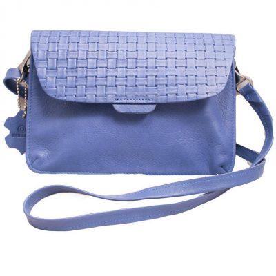 Сумка из натуральной кожи Dublon Leatherworks «Katrin Wicker Blue»