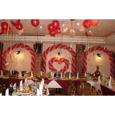 Аэродизайн -свадьба, оформление шарами №10