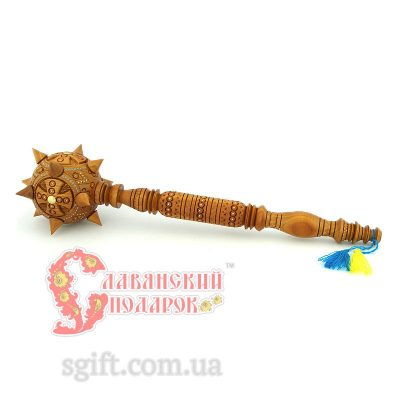 Булава резная «Крест козацкий» - 500 мм