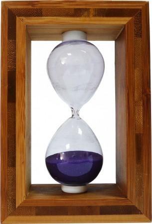 Часы песочные в бамбуковой рамке