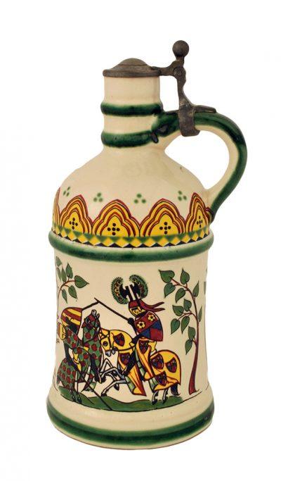 Немецкий керамический кувшин для водки, вина, ликера