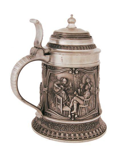 Оловянная пивная кружка с крышкой «Сбор урожая»