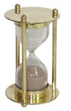 Песочные часы в золотой оправе