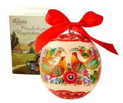 Подарочный ёлочный шар «Две птички счастья»