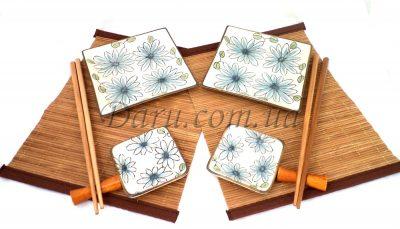 Сервиз для суши «Незабудки» (6 предметов)