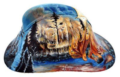 Шлем пожарного «Легенда о драконах» ручная роспись