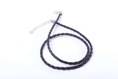 Шнур - основа для кулона черный, 45см