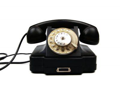 Дисковый стационарный телефон