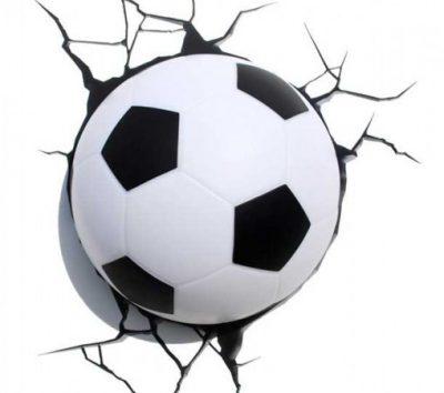 Светильник «Футбольный мяч в стене»