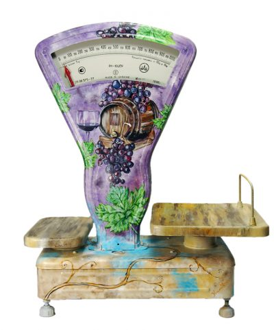 Уникальный весы «Виноделие» с ручной росписью