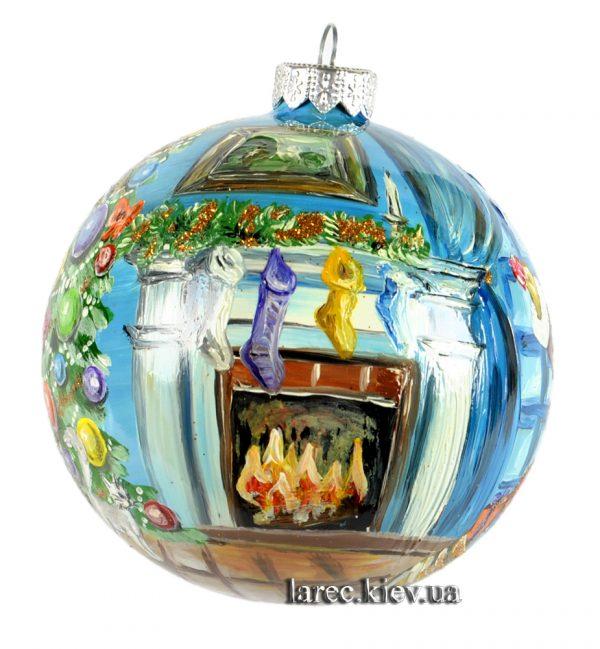 Эксклюзивный елочный шар ручной работы
