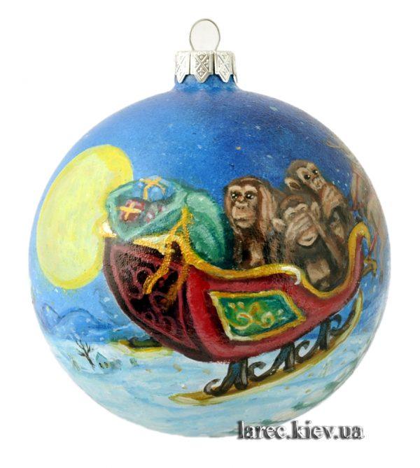 Елочный шар «Новый Год спешит»