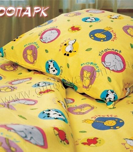 Комплект постельного белья «Зоопарк» для новорожденных