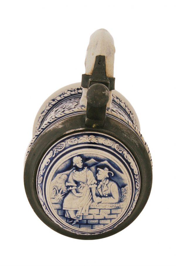 Кружка для пива с керамической крышкой