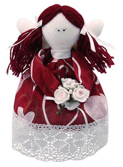 Кукла ручной работы валентинка «Ангелок»