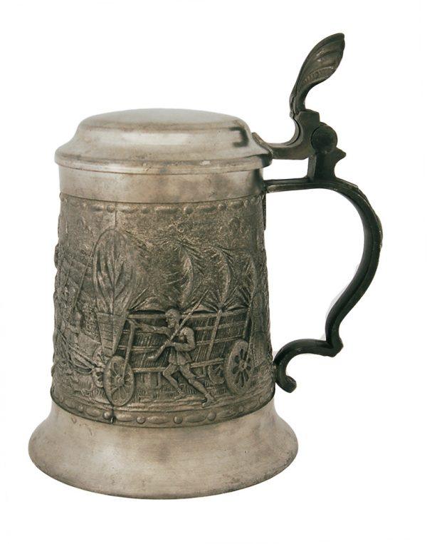 Пивная кружка из олова «Поход»