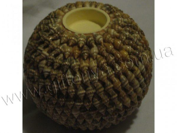 Подсвечник-шар из ракушек, 12см