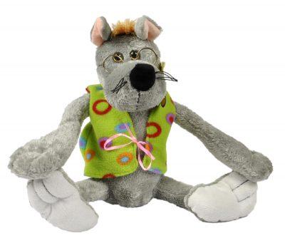 Прикольная мягкая игрушка «Волк»